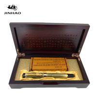 çince ejder kutusu toptan satış-Orijinal Kutusu ile Jinhao Antik Gri Çin Oryantal Ejderha Dolma Kalem Ücretsiz Kargo
