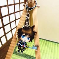 corazón acrílico llaveros al por mayor-10 unids por lote Kingdom Hearts llaveros reino corazones figura acrílico llaveros colgantes para llaves de coches roxas 3