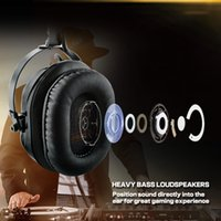 Wholesale Over Ear Headphones Microphones - Professional Esport Gaming Headset Headphone Earphone Over Ear USB Connector with Microphone for Desktop Laptop PC XBOX ONE