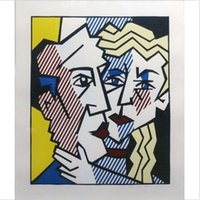 Wholesale art paintings couple resale online - ROY LICHTENSTEIN quot THE COUPLE quot HandPainted HD Print Pop Art oil Painting On Canvas High Quality Wall Art Home Decor ry18