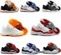 boas sapatilhas de basquete venda por atacado-72-10 11 s 11 homens baixos tênis de basquete online desconto real boa qualidade sapatilha EUA tamanho 8-13 com BOX frete grátis