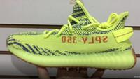 Wholesale blue gold boys for sale - V2 Semi Frozen Yellow Running Shoes yakuda V2 Static Walking Shoes Sneakers Cheap Discount Tennis Shoe Men Women Boys Girls Shoes