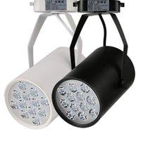 loja moderna acessórios venda por atacado-AC110V 220 V Modern LED faixa de luz 3/5/7/12 W conduziu a lâmpada do ponto loja loja de iluminação de iluminação railroad holofotes