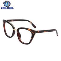 verschreibungsbrillen rahmen großhandel-Drop Shipping Unisex Cat Eye Schlank Rahmen Brillengestell Optische Brille Brillen Prescription Eye Wear Optische Brille
