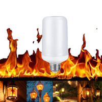 Wholesale fire bulbs - E27 8W Flame Effect LED Corn light Bulb Lamp Fire Burning Flicker Replace Gas Lantern Christmas Halloween Decoration