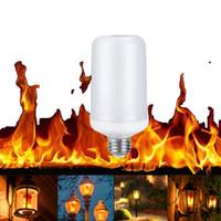 e14 maïs led ampoules 8w achat en gros de-E27 8 W effet de flamme LED lumière de maïs ampoule lampe feu brûlant scintillement remplacer gaz lanterne de noël Halloween décoration