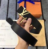 emballage en cuir achat en gros de-La dernière conception de sangles de boucle VVV jeans de haute qualité ceinture occasionnelle de luxe en cuir ceinture paquet d'origine livraison gratuite