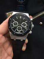 importa dos al por mayor-El reloj de pulsera comercial de lujo superior para hombre A, negro, correa de caucho con anillo de superficie de oro rosa estilo dos, núcleo de cuarzo importado calidad AAA gratis