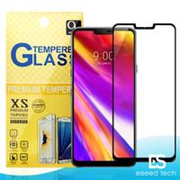 pantallas zte al por mayor-Para J2 CORE LG G7 / STYLO 4 / K10 2018 / Aristo 2 / X Power 2 ZTE Zmax pro Blade 2.5D Cubierta completa Cristal templado Protector de pantalla Para teléfonos Metropcs