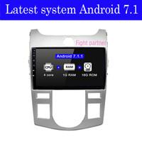 kia forte bluetooth al por mayor-El último reproductor de DVD del coche de Android 7.1 del precio de fábrica para KIA Forte Cerato autoradio coche estéreo gps navegación estéreo multimedia