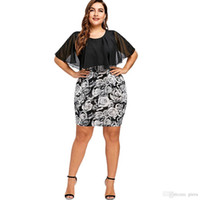 6df0b980cf2 Gamiss Dress Women Plus Size Dress Rose Print Bodycon O Neck Short Sleeves  Mini Sexy Club Party Dresses Vestidos Big Size 5XL