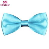 Wholesale boys silver bow tie - MUQGEW hair clips of unicorn costume for boys New School Boys Kids Children Baby Bow Wedding Solid Colour Tie Necktie headband