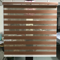 Zebra Blinds Horizontal Window Shade Double layer Roller Blinds Window Custom Cut to Size Brown Curtains for Living Room
