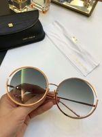 Wholesale linda farrow - Linda Farrow LFL680 Round Sunglasses Round Gold Frame Sonnenbrille 61mm Luxury Brand sunglasses Eye wear New with Box
