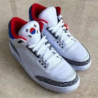 Wholesale Box Korea - Authentic NRG OG 3 SEOUL KOREA White Red Cement 3S Man Woman Basketball Shoes Sneakers AV8370-100 With Original Box 36-47.5