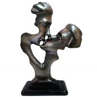 estatuas de amor al por mayor-Estatuas abstractas creativas, esculturas de mano, decoraciones de escritorio para el hogar, la oficina, la decoración del hotel, regalo de San Valentín de Send / Love Kiss Statues