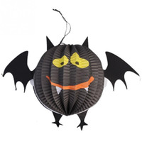 ingrosso lanterna di pipistrello-Le vendite decorative della lanterna stereoscopica dello Spectre del pipistrello della carta di Halloween di nuovo marchio
