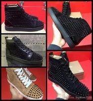 zapatos de pinchos blancos para hombres al por mayor-Moda 2018 Nuevas zapatillas de deporte de diseñador para hombre y mujer de la marca de fondo rojo diseñador para hombre zapatos de lujo de cuero genuino wHITE punta de punta Zapato
