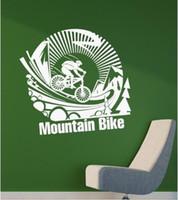 etiquetas livres da bicicleta do transporte venda por atacado-Frete grátis Criativo Mountain Bike Adesivos de Parede Cotações Decalque Da Parede Da Bicicleta Removível Vinyl DIY Decoração de Casa Moderna para Paredes Meninos Quarto