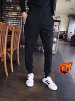 Wholesale designer clothes men trousers for sale - Group buy Winter Designer Fleece Mens Pants with Logo Pattern Autumn Trousers Solid Color Sport Trousers Luxury Thick Pants Casual Clothing M XL
