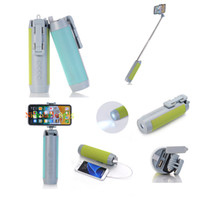 Wholesale mp3 player holder - Multi-function Wireless Bluetooth Speaker 2000mAh Power Bank Phone Holder Selfie Monopod LED Flashlight Support TF Card Mp3 Music Player