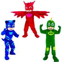 doğum günü partisi için maskot kostümleri toptan satış-2018 Sıcak yeni Maskot Kostümleri Parade PJ Maskesi Doğum Günü yetişkin hayvan büyük Cadılar Bayramı partisi Için