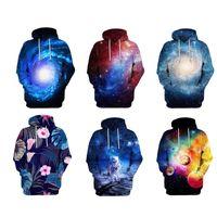 ingrosso cappuccio universo-Galaxy Hoodie Stampa 3D Uomo Donna Felpe Unisex Pullover Vast Universe Felpe con cappuccio Hipster Outwear Haging Out Tee S-5X 10 Stili