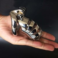 Wholesale cock ball chastity devices - Male Chastity Devices Cock Ring Chastity Belt Ball Stretcher Penis Ring for Couples Erotic Sex Toys for Men Lock Bondage