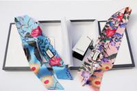 Wholesale Silk Flower Gifts - Designer 100% Silk Cross Headband Fashion Luxury Brand G Elastic Flower Hairband For Women Girl Retro Floral Turban Headwraps Gifts
