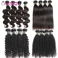 Wholesale body wave hair weaves online - Unprocessed Cheap a Brazilian Straight Virgin Human Hair Bundles Body Wave Kinky Curly Human Hair Weaves Raw Indian Remy Human Hair Vendors
