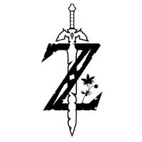 Wholesale zelda glass - 16*7.2CM Video Game Zelda Breath of The Wild Dominnering car laptop sticker glass sticker CA-174