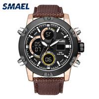 ingrosso grande display digitale-SMAEL Sport Watch Men Dual Display digitale da polso Mens impermeabile LED Big Dial Orologi Orologio relogio masculino