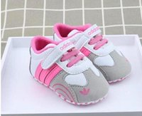 Wholesale walker shoes for infants online - Fashion PU leather Baby Moccasins Newborn Baby Shoes For Kids Sneakers Toddler infant Crib Shoes Boy Girl First Walkers