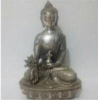 "Wholesale Tibetan Bronze Buddha Statue - YM 309 8"" Nepal Tibetan Buddhist bronze Healing Medicine buddha statUE"