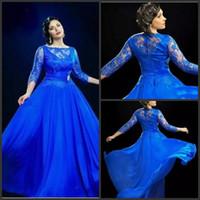 Royal blaues kleid lang