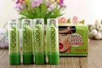 Wholesale pink magic lips for sale - Group buy Fruity Smell Women Lip Balm Magic Temperature Moisturizing Hydrating Green to Pink Long Lasting Change Color Lipstick