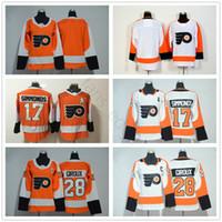 2018 New Philadelphia Flyers Hockey Jerseys Blank 17 Wayne Simmonds 28  Claude Giroux Ice Hockey Men Women Kids Youth Orange White Jersey b42fb2ed8
