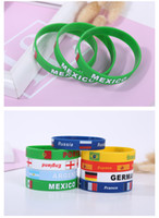 Wholesale gif chain - Fashion Company activities gifts,2018 Russia world cup souvenir gift,mens women Silicone Bracelet Bracelet Wristband Bracelet hand chain gif