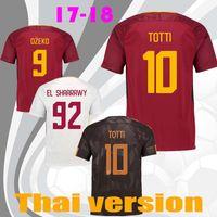 Wholesale Men Shits - TOTTI Soccer Jerseys 16 17 18 MAGLIA GARA HOME CAPITANO Maillot De Foot 2017 Francesco Aeterno X Dzeko Calcio Serie Football Shits