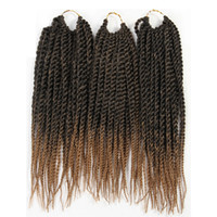 Wholesale synthetic braiding hair free online - ZXTRESS Synthetic Hair Senegalese Twist Braiding Hair Extensions Pack quot Strands Heat Resistant Ombre Crochet Braids