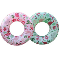 válvulas de descarga de inodoro al por mayor-2 colores inflable Flamingo Swim Ring Pool Float niños inflables Natación Circle niños Swim Ring Float Pool 12pcs