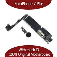 Wholesale unlock motherboard resale online - For iPhone Plus G Motherboard with Touch ID Fingerprint Original Unlocked Logic board