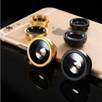 Wholesale iphone lens set - 3 in 1 for iphone set fisheye lens samsung microscope fish-eye lens telescope wide angle lens for all samsung iphone ipad lg with clip