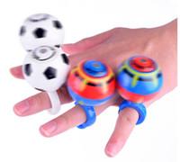 mini brinquedos magnéticos venda por atacado-Dedo Magnetic Futebol Fidget Spinner Bola Redutor de Tensão Criativo Batalha Rotate Futebol Brinquedo Giroscópio