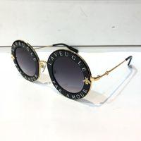 siyah şekillendirici jel toptan satış-Lüks 0113 S Kadınlar Için Güneş Gözlüğü Moda 0113 Tasarımcı Yuvarlak Yaz Tarzı Siyah Altın Çerçeve Üst Kalite UV Koruma Lens Gel Vaka Ile
