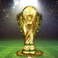 trofeos de resina al por mayor-2018 Copa Titán Artware Resina Modelo 21 cm 27 cm 36 cm 44 cm Rusia copa mundial de fútbol Fans Recuerdos regalo DHL entrega rápida