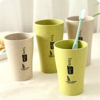 Wholesale friendly environment - Wholesale High quality environment Wheat straw material creative mug toothbrush & drinking cup for couple washroom supplies