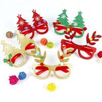 Wholesale mask designs red resale online - Creative Christmas Theme Children Glasses Paper Multi Design Eyeglass For Party Festival Decorative Mask Props Hot Sale pj Z