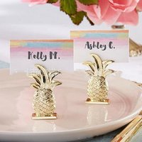 ingrosso carte d'oro-Golden Ananas Seat Clip Wedding Ceremony Decorate Card Clips Party Supplies Cards Holder Stile europeo 3 5xr Ww