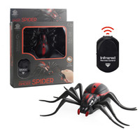 Wholesale Intellectual Toys - High Simulation Animal Spider Infrared Remote Control Kids Toy Gift RC Spider Toy Intellectual Spider Model Toy